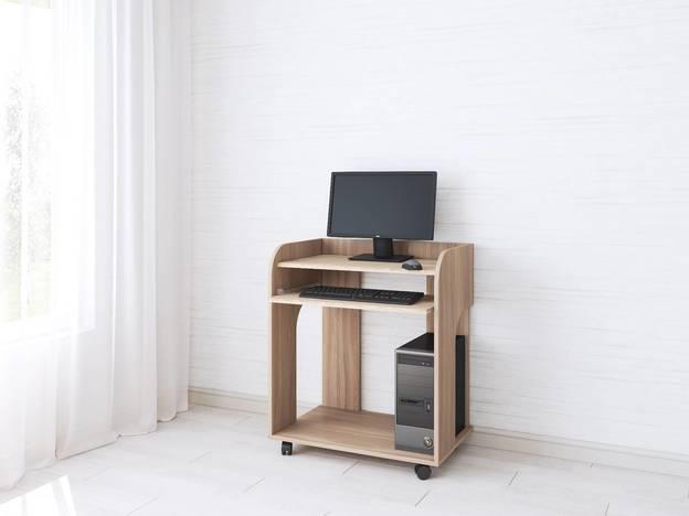 Компьютерный стол Грета-10 ясень шимо/дуб сонома